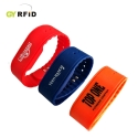 NFC Wristbands for waterpark, fitness centers - RFID wristband is the extension products of normal card, which is designed for easy carrying by person in swimming pool, construction place, pub, hospital, gsm center, etc. It combines the RFID and NFC technology with good looking and practical housings, completely water-proof. GYRFID present several types of wristbands to fit different customer''s demands. Material options: ABS/ PC/ Rubber/ Silicon/ Flexible Plastic / Paper/ PVC etc.