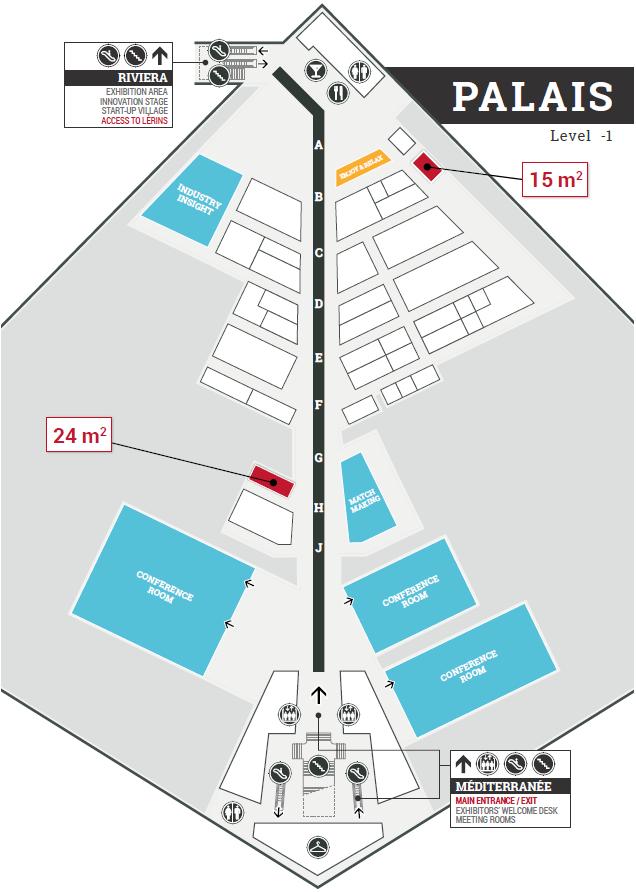 Palais floor plan - Palais des Festivals de Cannes - Trustech