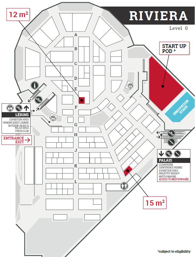 Riviera floor plan - Palais des Festivals de Cannes - Trustech