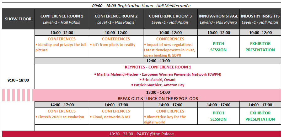 Agenda at a glance Day 1