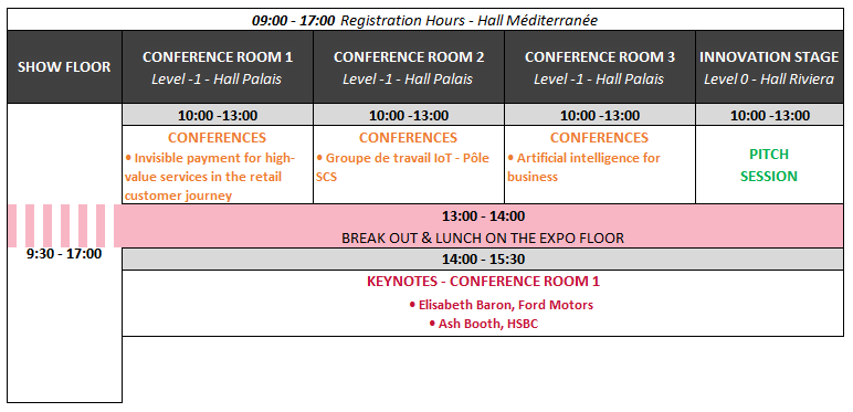 Agenda at a glance Day 3